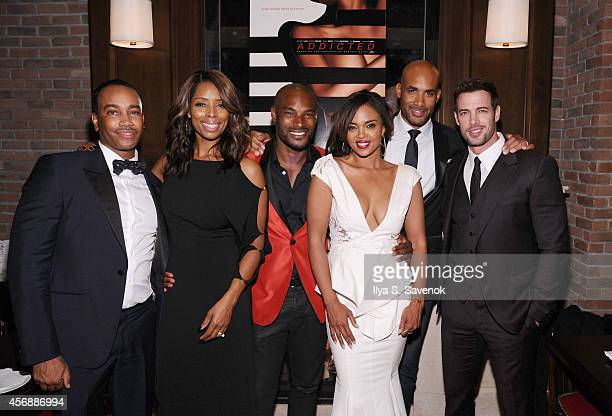 Bille Woodruff Tasha Smith Tyson Beckford Sharon Leal Boris Kodjoe and William Levy attend 'Addicted' New York Premiere After Party at Jade Hotel on...