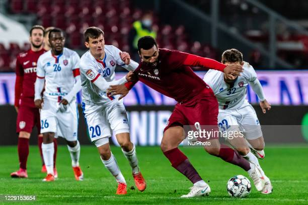Billel Omrani faulted during the 7th game in the Romania League 1 between CFR Cluj and FC Botosani, at Dr.-Constantin-Radulescu-Stadium, Cluj-Napoca,...