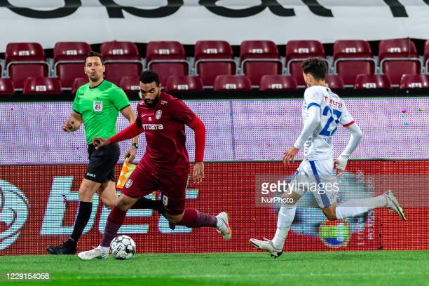 Billel Omrani in action during the 7th game in the Romania League 1 between CFR Cluj and FC Botosani, at Dr.-Constantin-Radulescu-Stadium,...