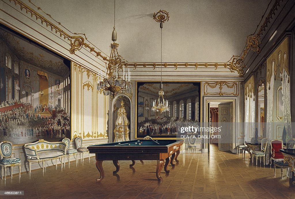 Billiard room in the Imperial Apartments, Schoenbrunn ...