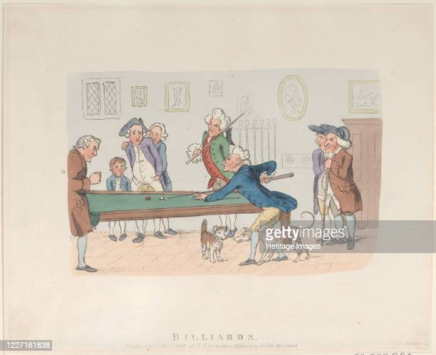 Billiards April 1803 Artist Thomas Rowlandson