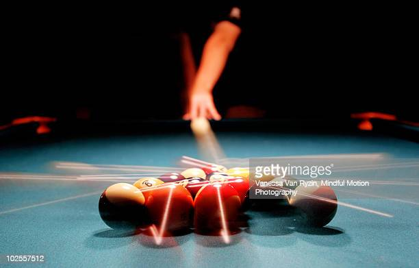 billiards game   - vanessa van ryzin stockfoto's en -beelden