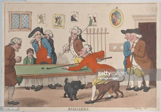 Billiards March 1 1803 Artist Thomas Rowlandson