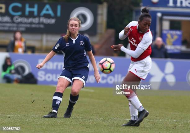 Billie Brooks of Millwall Lionesses L during The FA Women's Cup Fifth Round match between Arsenal against Millwall Lionesses at Meadow Park...