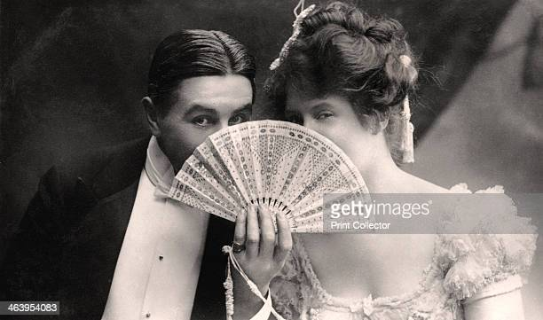Billie Burke and Farren Soutar in a scene from The Belle of Mayfair, early 20th century.