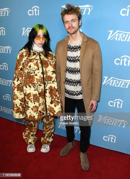 Billie Eilish and Finneas arrives at the 2019 Variety's Hitmakers Brunch at Soho House on December 07, 2019 in West Hollywood, California.