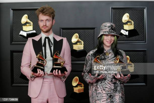 Billie Eilish and Finneas at THE 63rd ANNUAL GRAMMY® AWARDS, broadcast live from the STAPLES Center in Los Angeles, Sunday, March 14, 2021 on the CBS...