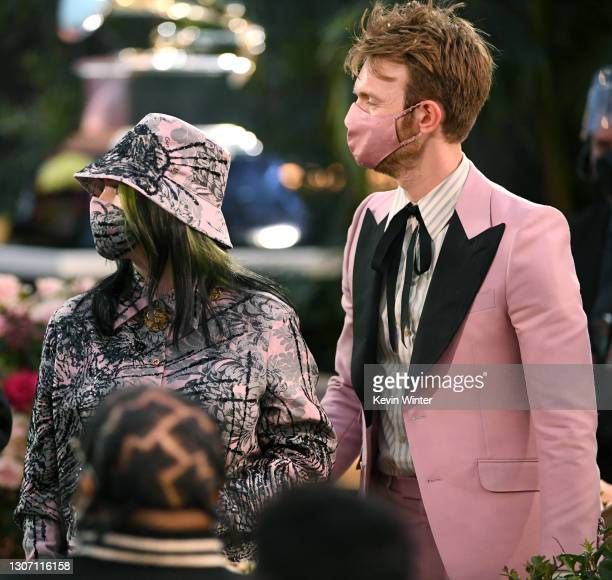 Billie Eilish and FINNEAS attend the 63rd Annual GRAMMY Awards at Los Angeles Convention Center on March 14, 2021 in Los Angeles, California.