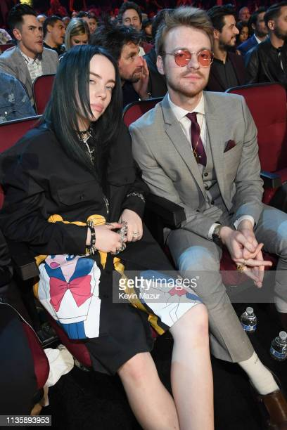 Billie Eilish and Finneas O'Connell at the 2019 iHeartRadio Music Awards which broadcasted live on FOX at Microsoft Theater on March 14 2019 in Los...