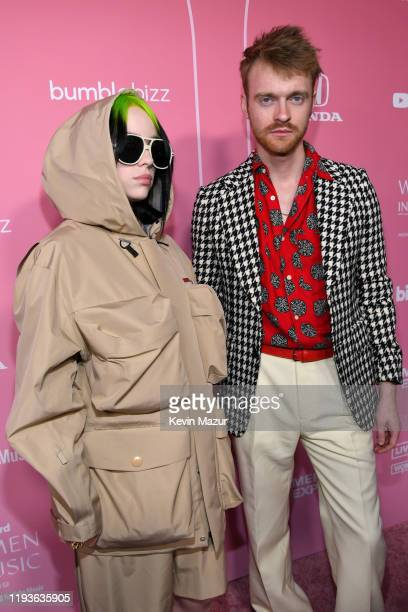 Billie Eilish and Finneas O'Connell attend Billboard Women In Music 2019 presented by YouTube Music on December 12 2019 in Los Angeles California