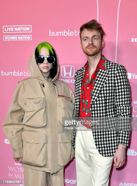 Billie Eilish and Finneas O'Connell attend the 2019 Billboard Women In Music at Hollywood Palladium on December 12, 2019 in Los Angeles, California.