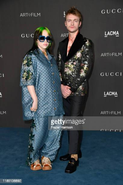 Billie Eilish and Finneas O'Connell attend the 2019 LACMA 2019 Art + Film Gala Presented By Gucci at LACMA on November 02, 2019 in Los Angeles,...