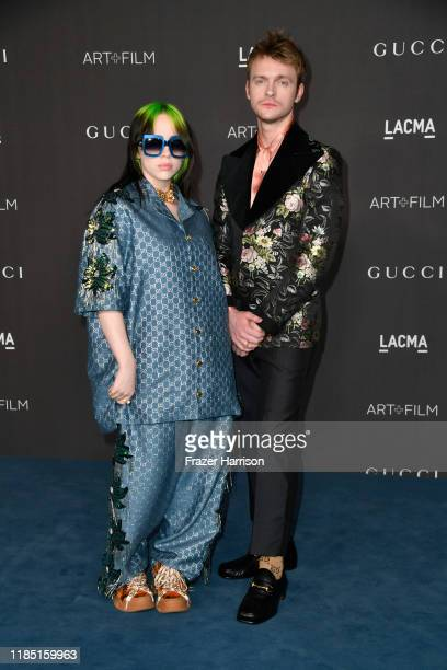 Billie Eilish and Finneas O'Connell attend the 2019 LACMA 2019 Art + Film Gala Presented By Gucci on November 02, 2019 in Los Angeles, California.