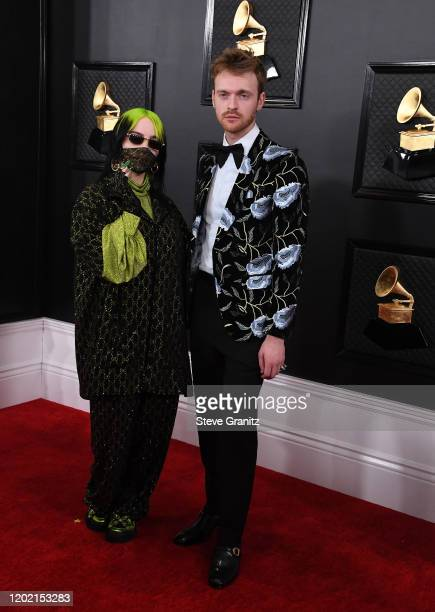 Billie Eilish and Finneas O'Connell attend the 62nd Annual GRAMMY Awards at Staples Center on January 26, 2020 in Los Angeles, California.