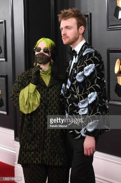 Billie Eilish and Finneas O'Connell attend the 62nd Annual GRAMMY Awards at STAPLES Center on January 26 2020 in Los Angeles California