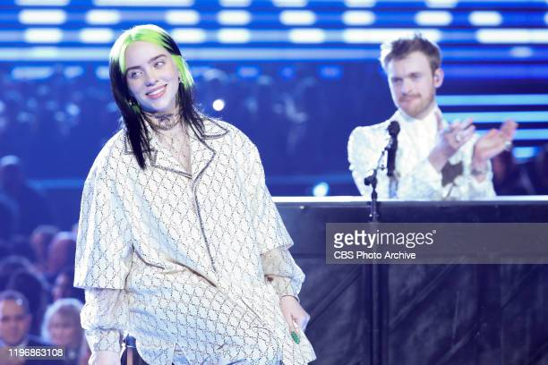 Billie Eilish and Finneas O'Connell perform at THE 62ND ANNUAL GRAMMY® AWARDS, broadcast live from the STAPLES Center in Los Angeles, Sunday, January...