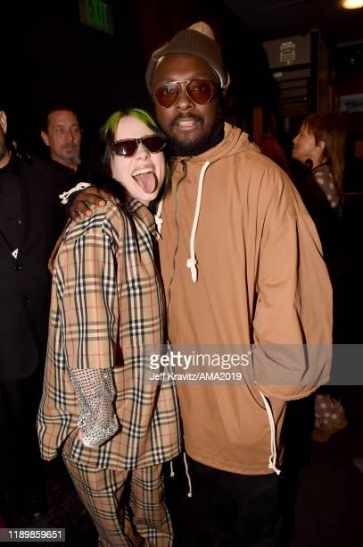 Billie Eilish and william attend the 2019 American Music Awards at Microsoft Theater on November 24 2019 in Los Angeles California