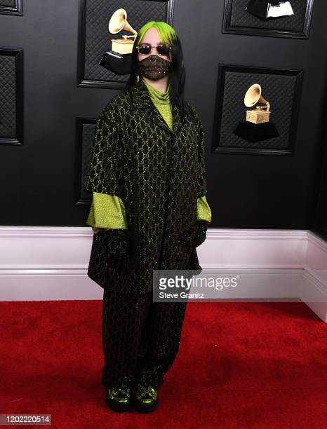 Billie Eilish arrives at the 62nd Annual GRAMMY Awards at Staples Center on January 26 2020 in Los Angeles California