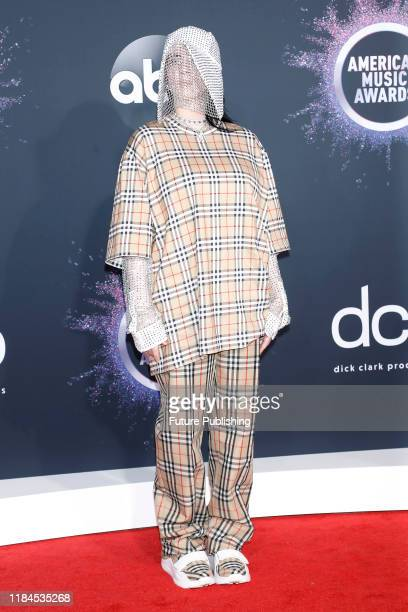 STATES NOVEMBER 24 2019 Billie Eilish at the 2019 American Music Awards at Microsoft Theater PHOTOGRAPH BY P Lehman / Barcroft Media