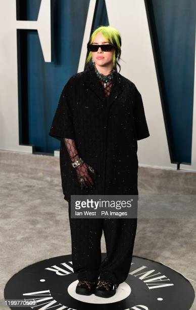 Billie Eilish attending the Vanity Fair Oscar Party held at the Wallis Annenberg Center for the Performing Arts in Beverly Hills Los Angeles...