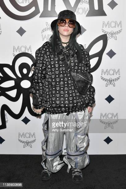 Billie Eilish attends MCM Global Flagship Store Grand Opening On Rodeo Drive at MCM Global Flagship Store on March 14 2019 in Beverly Hills California