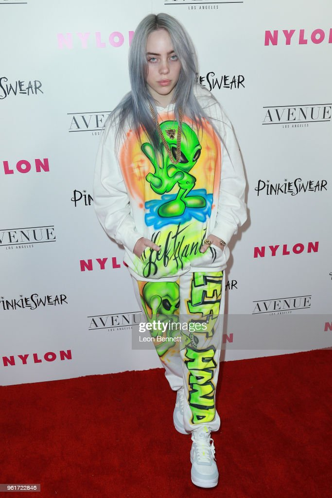 Billie Eilish attends NYLON Hosts Annual Young Hollywood Party at Avenue on May 22, 2018 in Los Angeles, California.