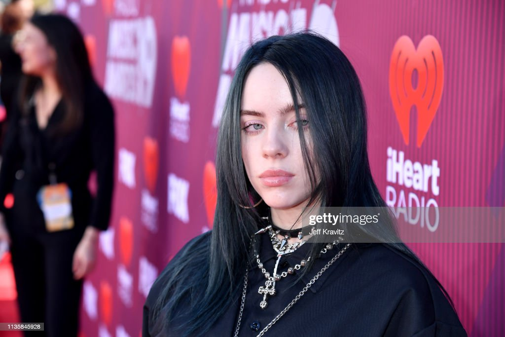 Billie Eilish attends the 2019 iHeartRadio Music Awards which