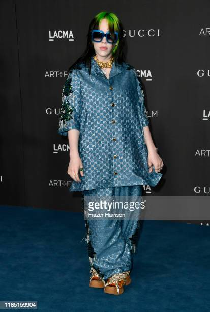 Billie Eilish attends the 2019 LACMA 2019 Art Film Gala Presented By Gucci on November 02 2019 in Los Angeles California