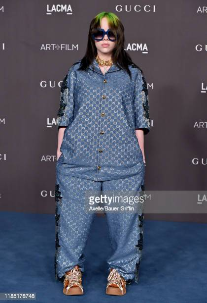 Billie Eilish attends the 2019 LACMA Art Film Gala Presented By Gucci on November 02 2019 in Los Angeles California