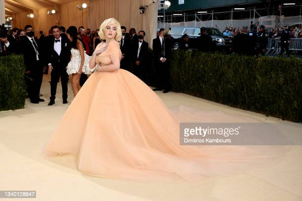 Billie Eilish attends The 2021 Met Gala Celebrating In America: A Lexicon Of Fashion at Metropolitan Museum of Art on September 13, 2021 in New York...