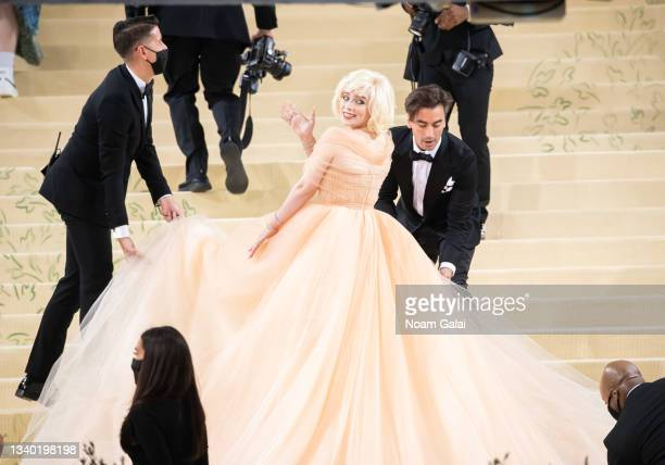 Billie Eilish attends the 2021 Met Gala celebrating 'In America: A Lexicon of Fashion' at The Metropolitan Museum of Art on September 13, 2021 in New...