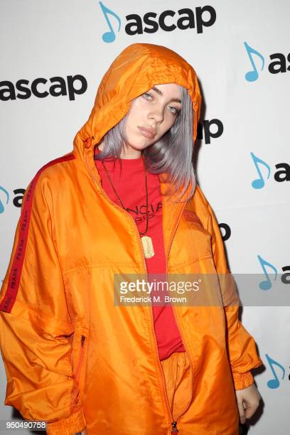 Billie Eilish attends the 35th Annual ASCAP Pop Music Awards at The Beverly Hilton Hotel on April 23 2018 in Beverly Hills California