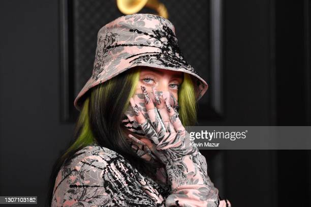 Billie Eilish attends the 63rd Annual GRAMMY Awards at Los Angeles Convention Center on March 14, 2021 in Los Angeles, California.