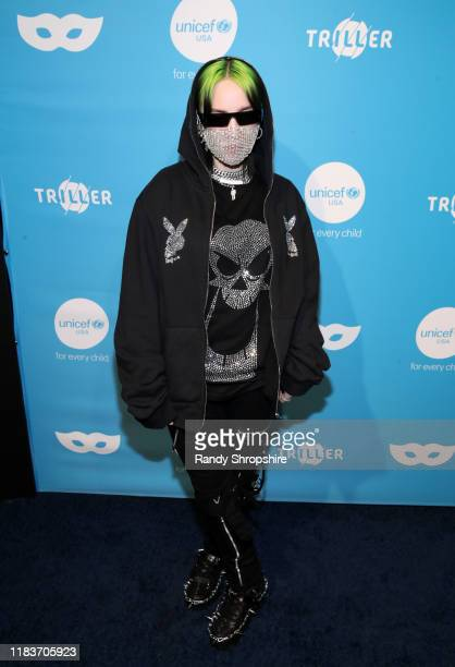 Billie Eilish attends the 7th Annual UNICEF Masquerade Ball 2019 at Kimpton La Peer Hotel on October 26 2019 in West Hollywood California