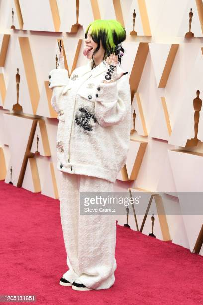 Billie Eilish attends the 92nd Annual Academy Awards at Hollywood and Highland on February 09 2020 in Hollywood California