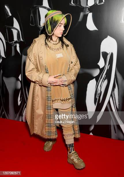 Billie Eilish attends The BRIT Awards 2020 at The O2 Arena on February 18 2020 in London England