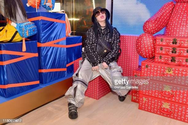 Billie Eilish attends the MCM Rodeo Drive Store Grand Opening Event at MCM Rodeo Drive on March 14, 2019 in Beverly Hills, California.