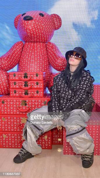 Billie Eilish attends the MCM Rodeo Drive Store Grand Opening Event at MCM Rodeo Drive on March 14 2019 in Beverly Hills California
