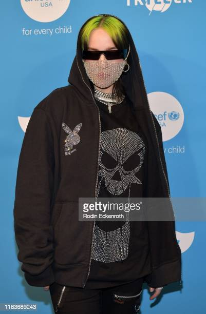 Billie Eilish attends the UNICEF Masquerade Ball at Kimpton La Peer Hotel on October 26 2019 in West Hollywood California