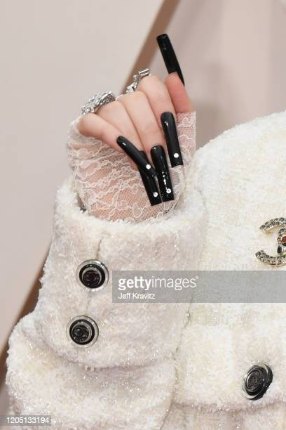 Billie Eilish, fingernail detail, attends the 92nd Annual Academy Awards at Hollywood and Highland on February 09, 2020 in Hollywood, California.