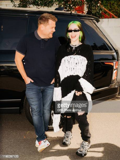 Billie Eilish helps James Corden get to work in an allnew Carpool Karaoke on The Late Late Show with James Corden airing Thursday December 19 2019