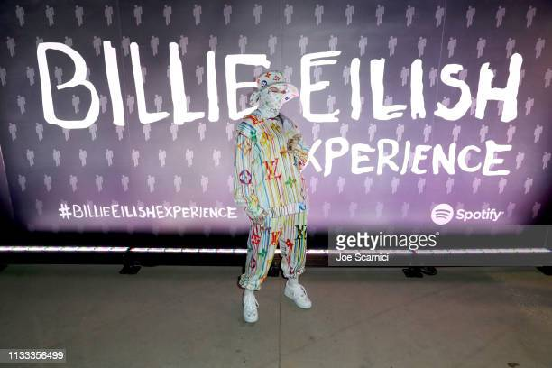 Billie Eilish is seen as Spotify presents The Billie Eilish Experience at The Stalls at Skylight Row on March 28 2019 in Los Angeles California