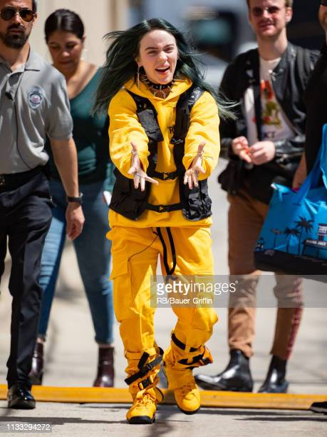 Billie Eilish is seen at 'Jimmy Kimmel Live' on March 28, 2019 in Los Angeles, California.
