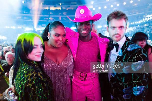 Billie Eilish Lizzo Lil Nas X and Finneas O'Connell attend the 62nd Annual GRAMMY Awards on January 26 2020 in Los Angeles California