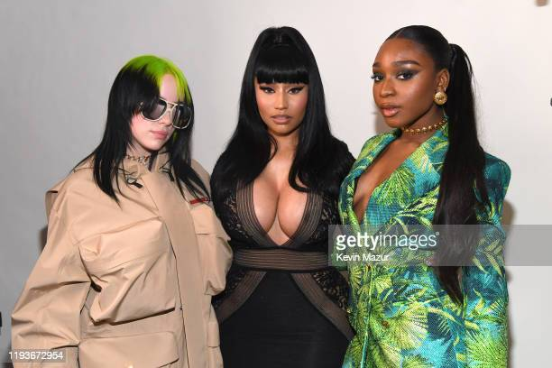 Billie Eilish Nicki Minaj and Normani attend Billboard Women In Music 2019 presented by YouTube Music on December 12 2019 in Los Angeles California