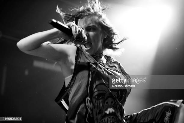 Billie Eilish performs an exclusive concert for SiriusXM and Pandora at The Troubadour on September 18 2019 in West Hollywood California