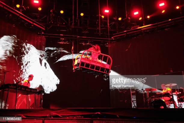 Billie Eilish performs at Outdoor Theatre during the 2019 Coachella Valley Music And Arts Festival on April 13, 2019 in Indio, California.