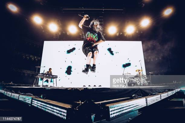 Billie Eilish performs at Outdoor Theatre during the 2019 Coachella Valley Music And Arts Festival on April 20 2019 in Indio California