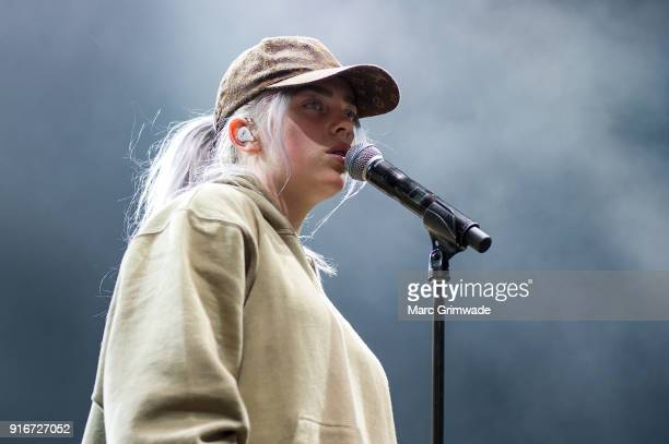 Billie Eilish performs at St Jerome's Laneway Festival on February 10 2018 in Brisbane Australia
