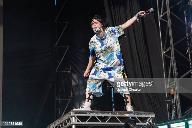 Billie Eilish performs at the Other Stage during day five of Glastonbury Festival at Worthy Farm, Pilton on June 30, 2019 in Glastonbury, England.
